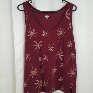 Old Navy Palm Tree Tank Top Size XL